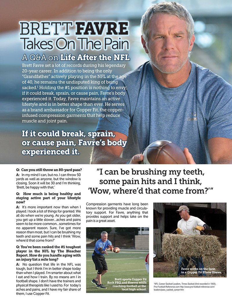 Farve Sports Illustrated Advertorial